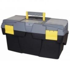 """Ящик для инструмента  """"Mega Cantilever"""" пластмассовый с 2-мя консольными лотками и 2-мя органайзерами, 495х265х261мм. 1-92-039"""