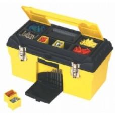"""Ящик для инструмента """"Condor"""" 19"""" пластмассовый с органайзерами и металлическими замками., 479x264x244 мм. 1-92-055"""