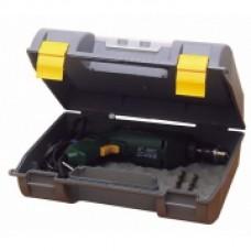 Ящик для электроинструмента , 359 x 136 x 325мм, пластмассовый с органайзером в крышке 1-92-734