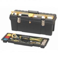 """Ящик для инструмента профессиональный , 26"""" (695х 272х260мм), пластмассовый с отсеком для хранения уровня. 1-92-850"""