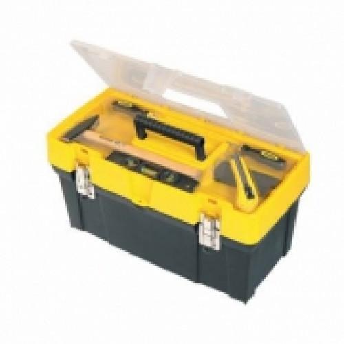 """Ящик для инструмента  """"Classic"""" пластмассовый с органайзером в крышке, 19""""(485 x 248 x 235мм). 1-93-285"""