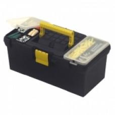 """Ящик для инструмента """"Classic"""", 394x222x162мм (16""""), пластмассовый с 2-мя органайзерами и лотком. 1-93-335"""