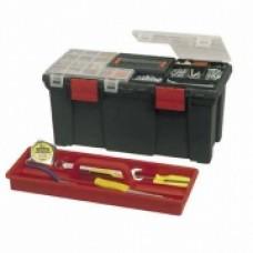 """Ящик """"Серия 20001"""", 20""""(50,8х24,7х24,1см), пластиковый,с двумя органайзерами в крышке и лотком. 1-93-336"""