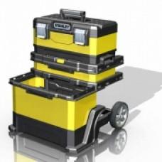 Ящик с колесами  Rolling Workshop, 568 x 730 x 389мм, металлопластмассовый желтый.1-95-621
