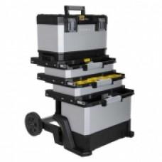 """Ящик с колесами """"FatMax® Rolling Workshop"""" металлопластмассовый серый, 568x893x389мм. 1-95-622"""
