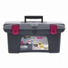 """Ящик для инструмента """"Jumbo D.I.Y. Collection"""" пластмассовый с пластмассовыми замками 40х254х182мм. 1-97-490"""