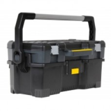 """Ящик для инструмента профессиональный , 670 x 323 x 283 мм (24""""),пластмассовый, открытый со съемным кейсом. 1-97-506"""