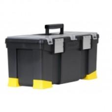 """Ящик для инструмента """"Classic """", 556X257X248мм (22""""), пластмассовый с органайзерами, лотком и алюминиевыми замками. 1-97-512"""