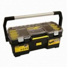 """Ящик для инструмента профессиональный , 670 x 323 x 251 мм (24""""),пластмассовый, открытый со съемным органайзером. 1-97-514"""
